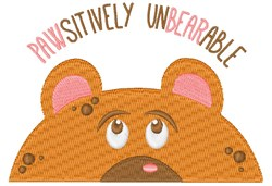 Pawsitively Unbearable embroidery design