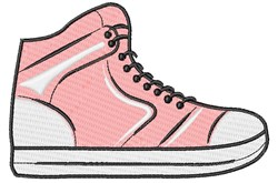 Pink Sneaker embroidery design