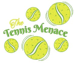 Tennis Menace embroidery design