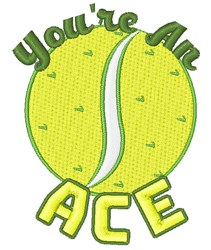 Youre An Ace embroidery design