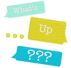 Whats Up? embroidery design