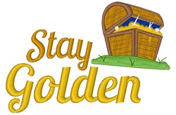 Stay Golden embroidery design