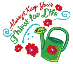 Thirst For Life embroidery design