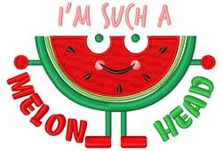 Melon Head embroidery design