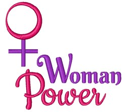 Woman Power embroidery design