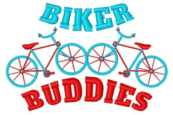 Biker Buddies embroidery design