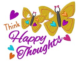 Happy Thoughts embroidery design