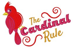 Cardinal Rule embroidery design