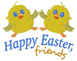 Happy Easter Friends embroidery design