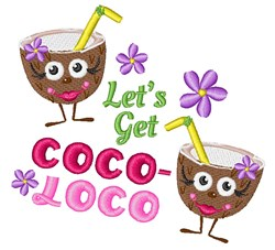Coco Loco embroidery design