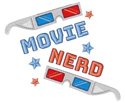 Movie Nerd embroidery design