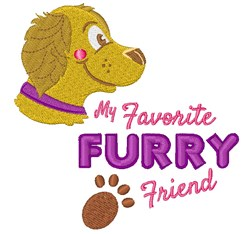 Furry Friend embroidery design