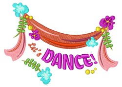 Let s Dance embroidery design