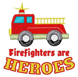 Firefighters Heroes embroidery design