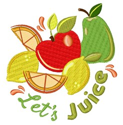 Lets Juice embroidery design