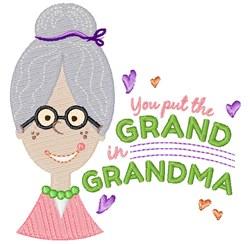 Grand In Grandma embroidery design