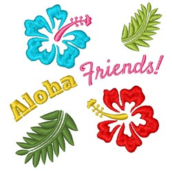 Aloha Friends embroidery design