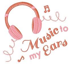 Music To My Ears embroidery design