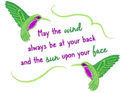 Wind At Your Back embroidery design