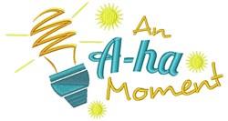A-ha Moment embroidery design
