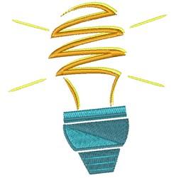Lightbulb embroidery design