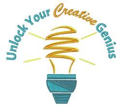 Creative Genius embroidery design