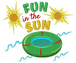 Fun In Sun embroidery design