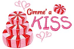 Gimme A Kiss embroidery design