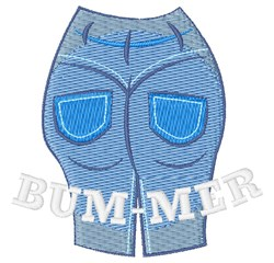 BUM-MER embroidery design
