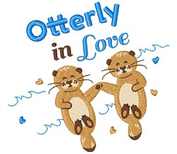 Otterly In Love embroidery design