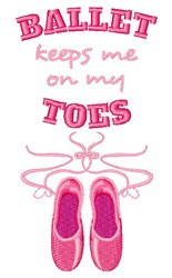 On My Toes embroidery design