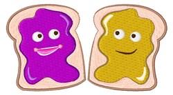 PB&J Sandwich embroidery design