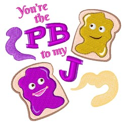 The PB To My J embroidery design