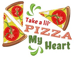 Pizza My Heart embroidery design