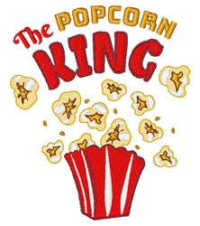 Popcorn King embroidery design