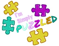Simply Puzzled embroidery design
