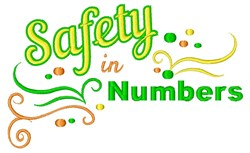 Safety In Numbers embroidery design