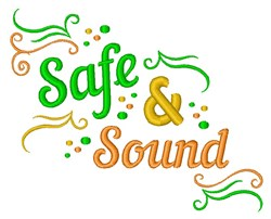 Safe & Sound embroidery design