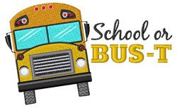 School Or Bus-t embroidery design