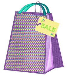 Shopping Bag SALE embroidery design