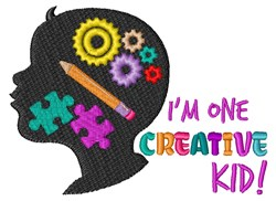 Creative Kid embroidery design