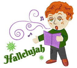 Sing Hallelujah embroidery design