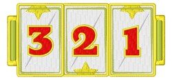 Slots  Numbers embroidery design