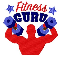 Fitness Guru embroidery design