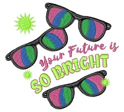 Future Is Bright embroidery design