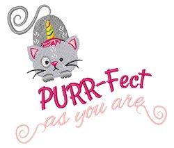 Purrfect As You Are embroidery design