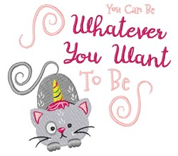 Whatever You Want embroidery design