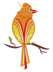 Yellow Bird embroidery design