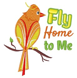 Fly Home embroidery design