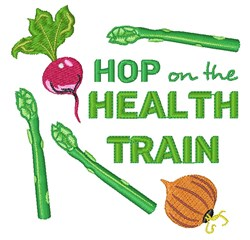 Health Train embroidery design
